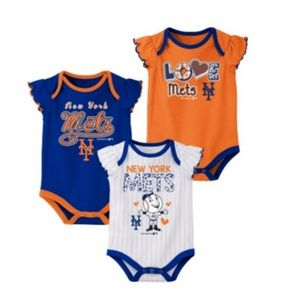 Other - New York Mets Baby Girl Onesies Bodysuits (3 PACK)